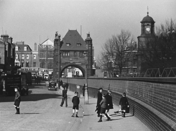 The entrance to Blackwall Tunnel under the Thames