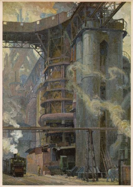 GERMANY Blast furnace at Friedrich Alfred-Hutte