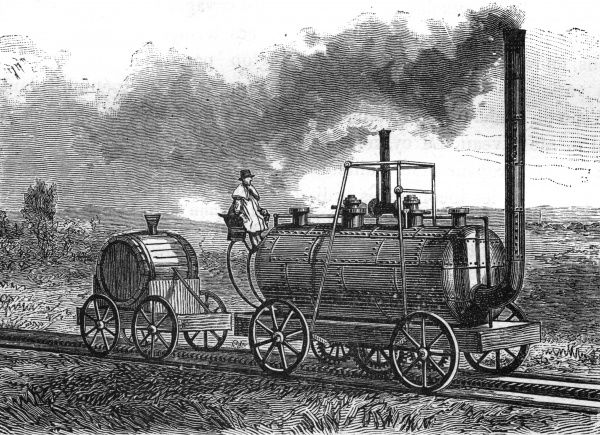 BLENKINSOP'S LOCOMOTIVE. Also known as the Salamanca, as it was built in the same year as Wellington's victory at the Battle of Salamanca. Date