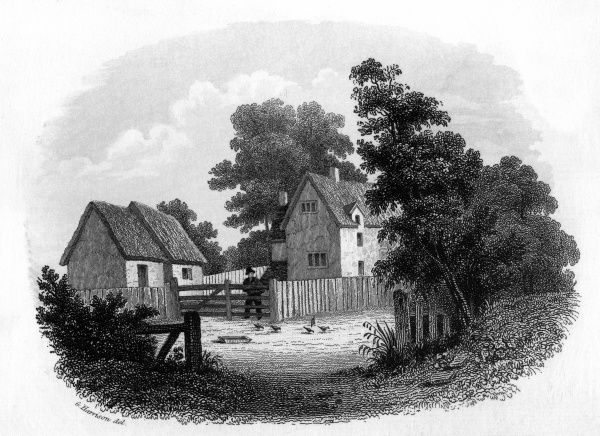 Austin's Farm at Sapiston, Suffolk, the early home of the poet Robert Bloomfield. Date: 1766 - 1823