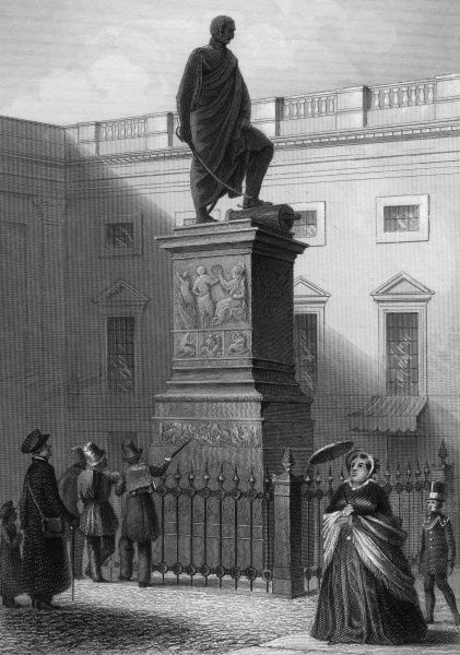 GEBHARD LEBRECHT von BLUCHER German military commander who with Wellington defeated Napoleon at Waterloo. His statue at Berlin is admired by passers-by. Date: 1742 - 1819