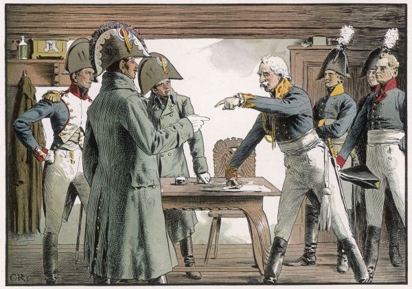 Blucher surrenders to the French at Ratkau