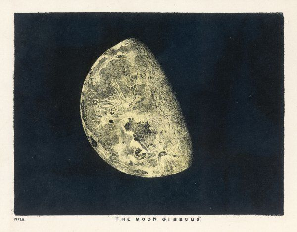 The moon gibbous - in a decreasing state