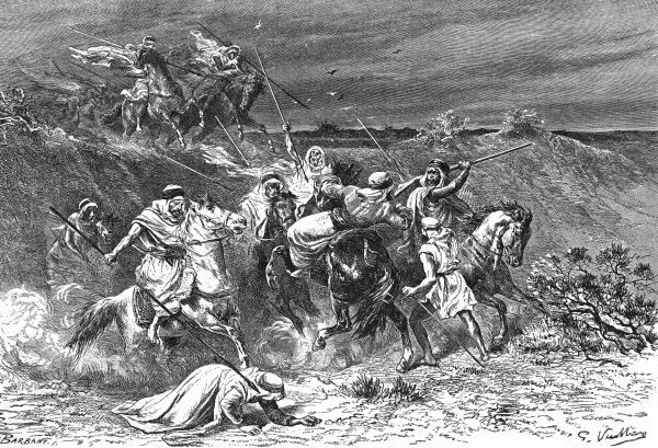 WILFRED SCAWEN BLUNT and his wife, LADY ANNE, are attacked - in error - by Arabs in the desert. It's scary for a while, but they survive to tell the tale. Date: 1840 - 1922
