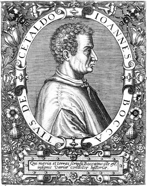 GIOVANNI BOCCACCIO DI CETALDO The Italian author of 'Il Decamerone' et alia. Date: 1313 - 1375