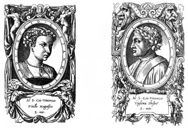 GIOVANNI BOCCACCIO Italian author, with a matching portrait of his beloved, known as La Fiammetta. Date: 1313 - 1375