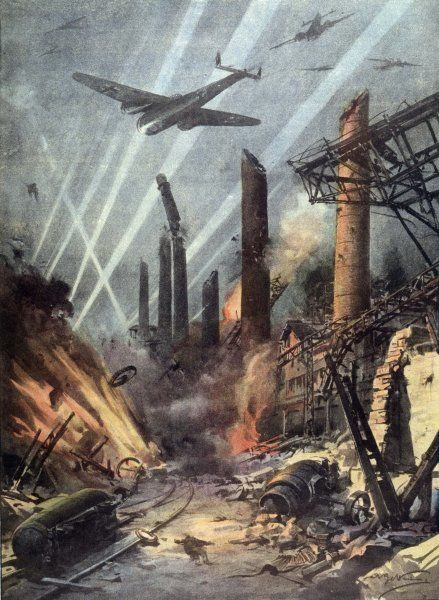 German bombers destroy the armaments factories at Sheffield