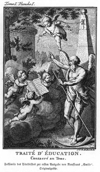 Title page of 'Emile'. Date: First published: 1762