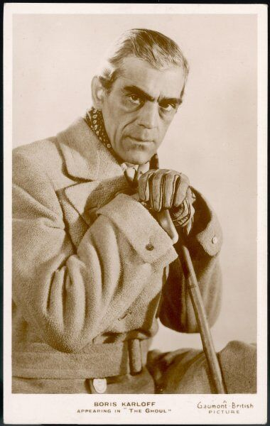 BORIS KARLOFF British actor who appeared in American films, most notably as the monster in Frankenstein (1931)