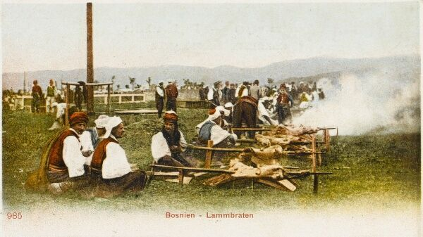 Bosnia & Herzegovina - Barbequing Lamb for a large feast