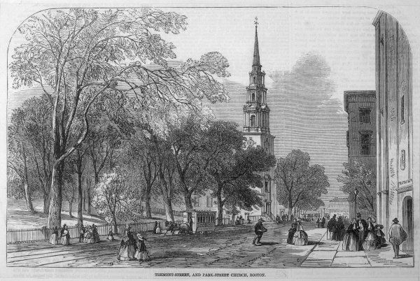 Tremont Street and Park Street Church, Boston