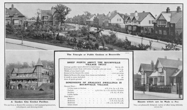 Bournville Village, Birmingham: homes for Cadbury's workers