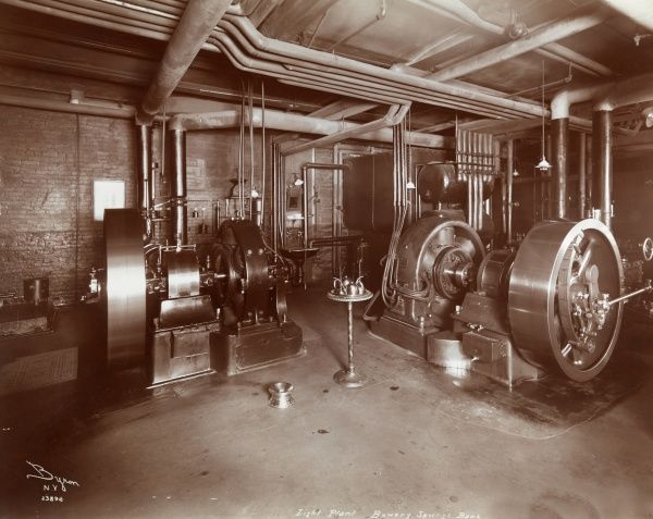 Light Plant, Bowery Savings Bank. Electric plant at the Bowery Savings Bank