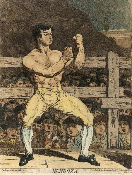 DANIEL MENDOZA 1764 - 1836 English boxer who was the acknowledged English heavyweight champion and who operated a successful boxing school in London