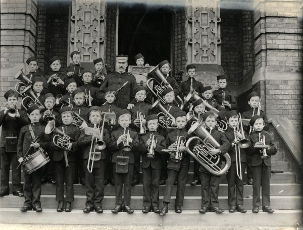 The Boys' Band at the Walsall and West Bromwich District School on Pennyhill Lane, Wigmore