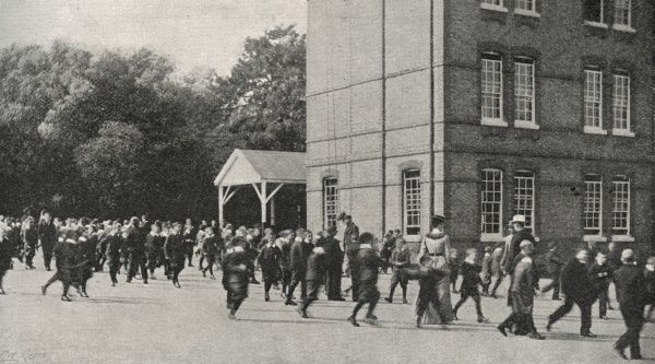 View of the Boys' Playground at the Lambeth Schools for workhouse children on Elder Road, West Norwood, South London