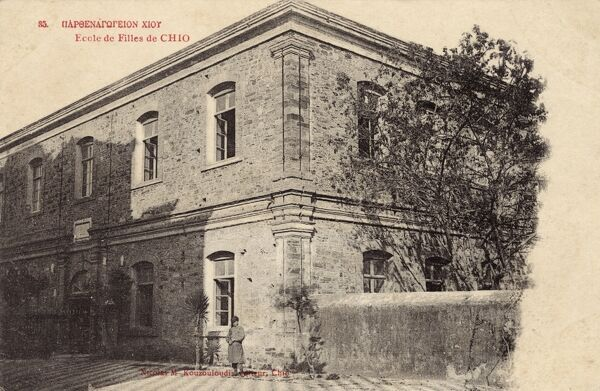 Boys School at Chios Town, Chios, Greece Date: circa 1910s