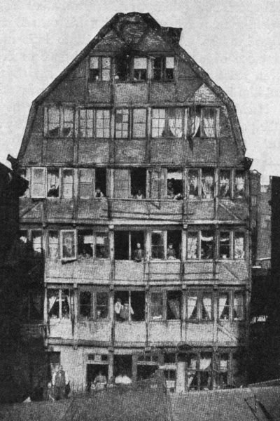 The house in Hamburg where he was born. Date: 1833 - 1897