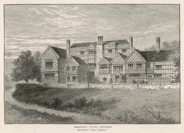 Bramhall House, Cheshire, a fine example of a half- timbered stately home
