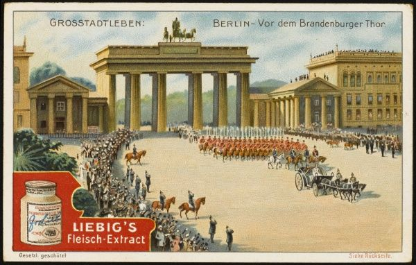 The Brandenburg Gate is the city's pre-eminent structure; during the Cold War it will symbolise the division between the East and West parts of the divided city
