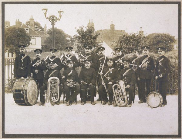 Unidentified band in a suburban setting, probably in northwest London