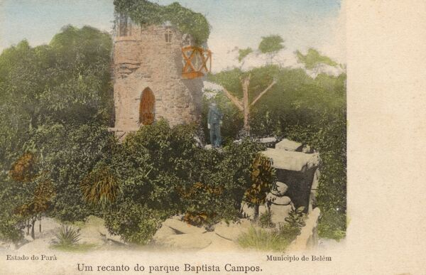 The Castelinho (Castle) folly at the Praca Batista Campos (Batista Campos Square) in Belem, Para, Brazil Date: 1906