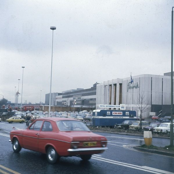Brent Cross Shopping Centre, north London. Date: 1977