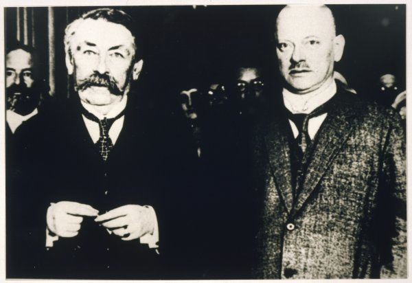ARISTIDE BRIAND French statesman with his German counterpart, Gustav Stresemann