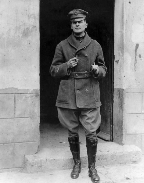 Brigadier General Douglas Macarthur (1880-1964), American army officer of the 84th Brigade, 42nd Division, near Fresmes (or Fresnes), France, towards the end of the First World War. He served in both World Wars, as well as the Korean War. Date