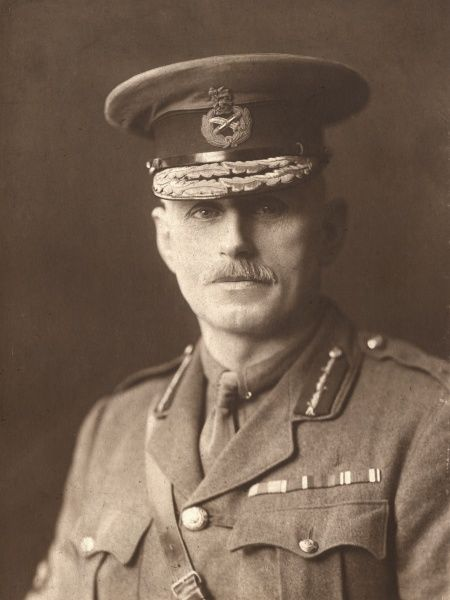 Brigadier General L.W.P. East, CMG, DSO, Royal Artillery officer during the First World War. Date: circa 1918