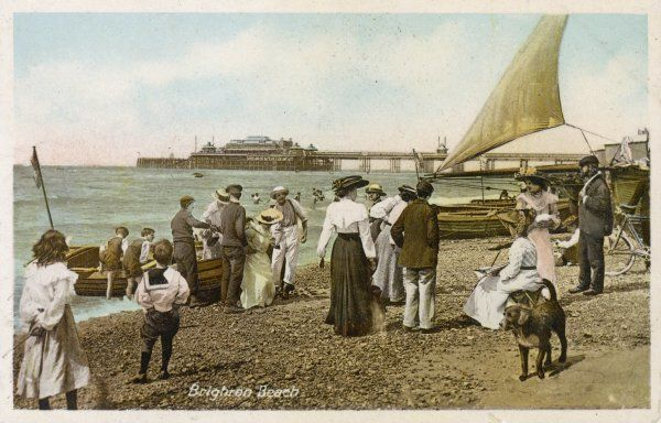 Brighton, Sussex: on the beach