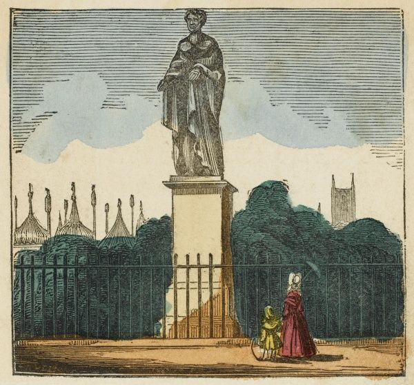 Brighton, Sussex: the statue of George IV on The Steyne