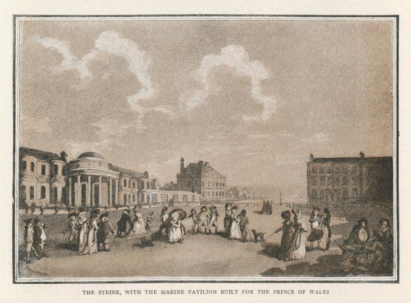 Brighton, Sussex: The Steine and the Marine Pavilion (as it was then)