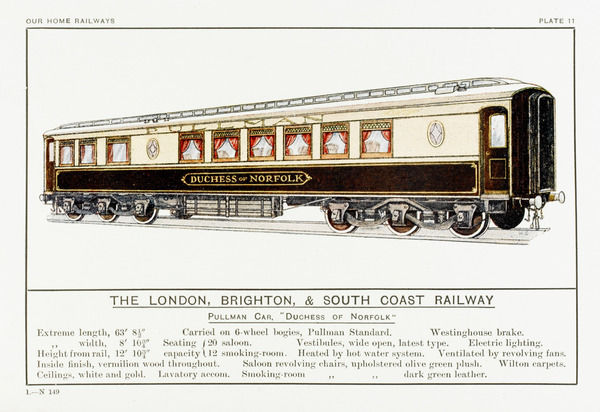 London Brighton and South Coast Railway pullman car