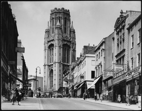 Park Street and University Tower, Bristol, England