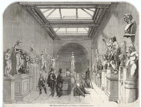 The newly-opened Greco-Roman Saloon, a rather formidable array of classical statuary