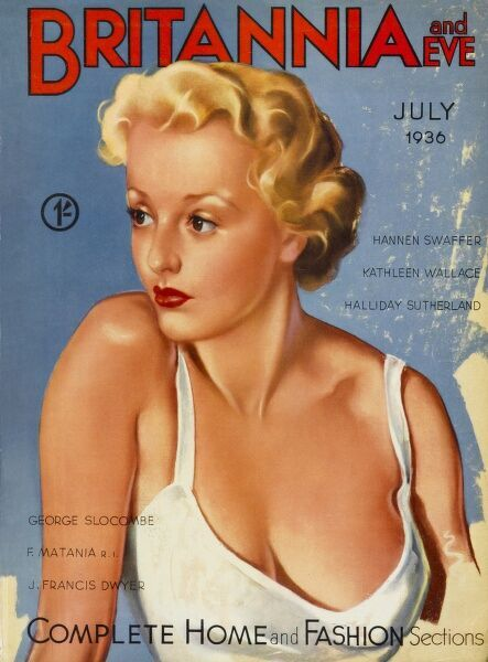 Front cover illustration featuring a scantily-clad blonde bombshell, dangerously close to revealing herself even further