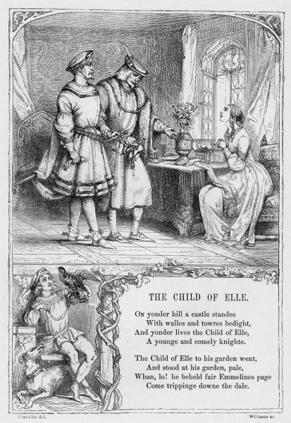 THE CHILD OF ELLE. Popular British Ballad, obtained and expanded by Thomas Percy (1729-1811)