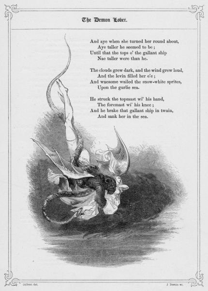 THE DEMON LOVER (also known as James Harris, James Herries, or The House Carpenter) Popular British Ballad telling the story of a man (the Devil), who returns to a former lover after an absence, and finds her with a husband and children