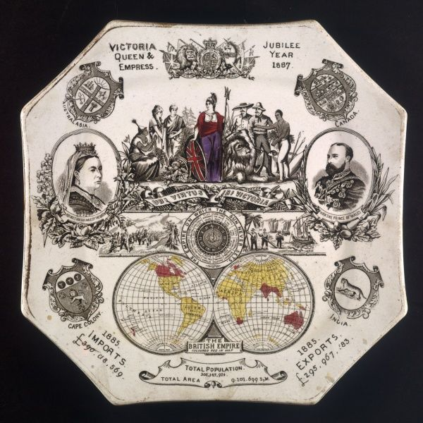Commemorative plate celebrating Victoria's Golden Jubilee and the British Empire