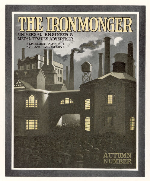 Factory scene - cover for The Ironmonger, 30 September 1911