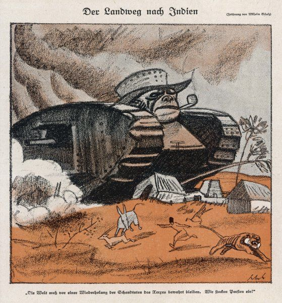 John Bull's tanks impose British imperialism on India