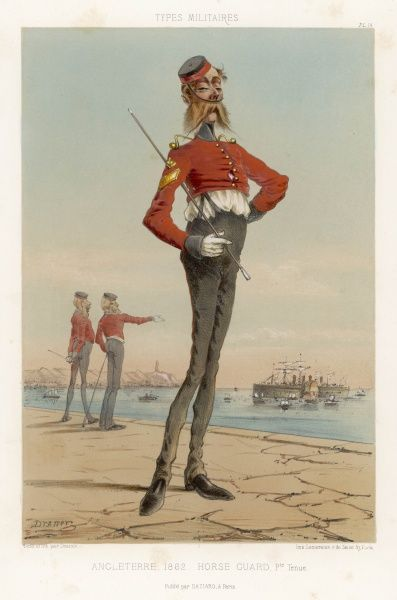 Fighting alongside the British in the Crimea does not seem to have made the French any more respectful of the English military type, as expressed in this brilliant caricature