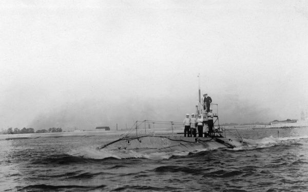 This is almost certainly the B1 submarine. Date: 1907