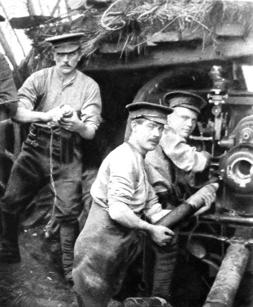 Britsh gunners in action at the front