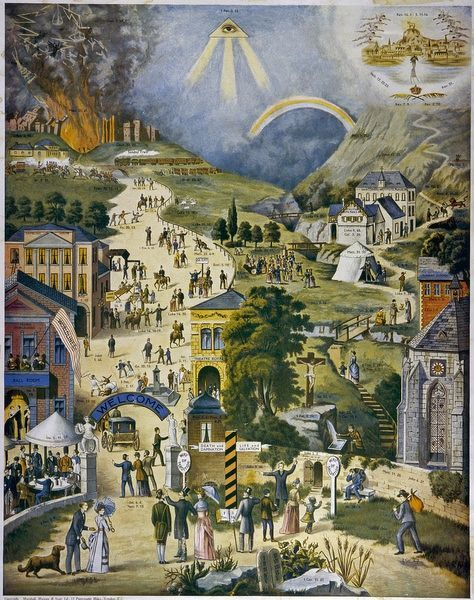 The Broad and Narrow way to Heaven or Hell - Religious concepts