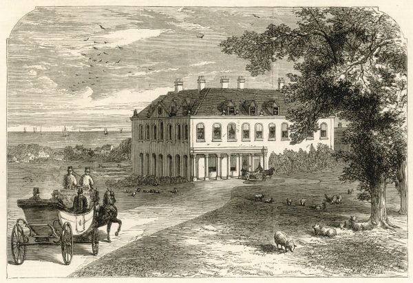 Brook House, the residence of Mr Seely, M.P., visited by Garibaldi