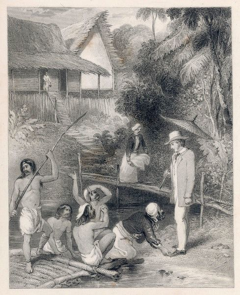 SIR JAMES BROOKE Rajah of Sarawak, listening to suppliants who come to him asking for his help or intervention