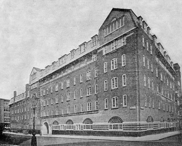 Bruce House - a model lodging house opened by the London County Council in 1906 at Kemble Street London WC2. Date: 1906
