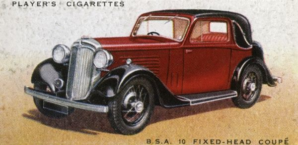 The B.S.A. 10 fixed-head coupe fitted with Daimler Fluid Flywheel Transmission (precursor of later automatic systems. Date: 1936